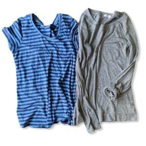 Lot of two tops small size blue and grey